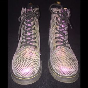 Doc Martens Air Wair Metallic Pink Scaled Boots